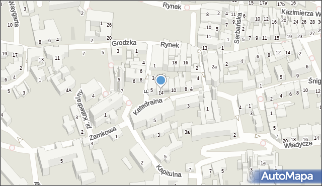 Przemyśl, Katedralna, 14, mapa Przemyśla