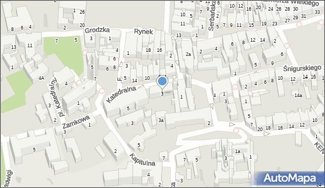 Przemyśl, Katedralna, 3, mapa Przemyśla
