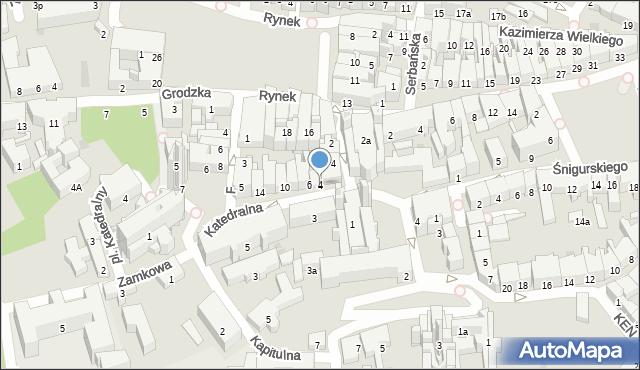 Przemyśl, Katedralna, 4, mapa Przemyśla