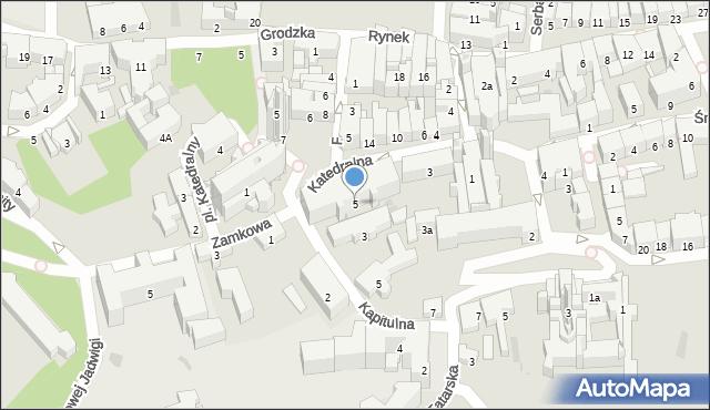Przemyśl, Katedralna, 5, mapa Przemyśla