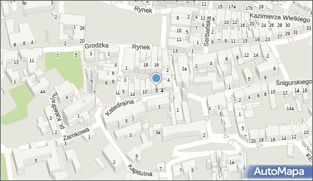 Przemyśl, Katedralna, 6, mapa Przemyśla