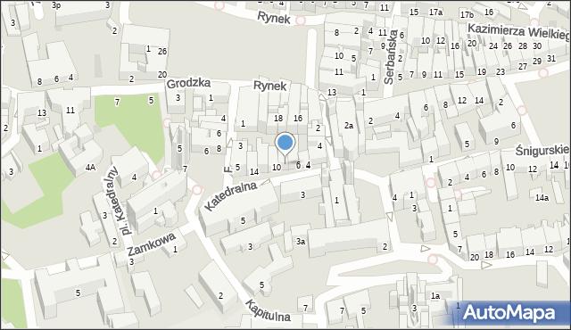 Przemyśl, Katedralna, 8, mapa Przemyśla