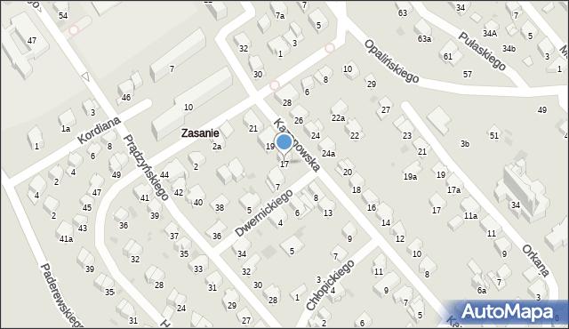 Przemyśl, Kazanowska, 17, mapa Przemyśla