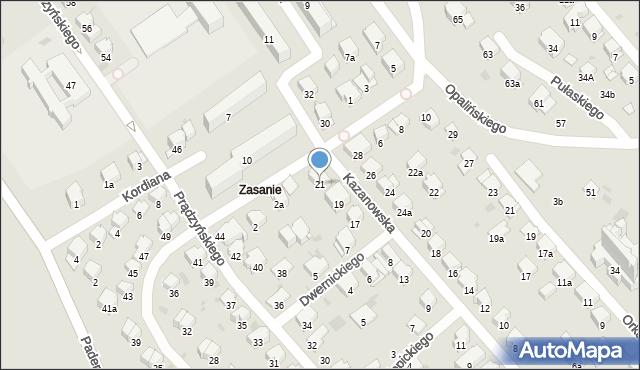 Przemyśl, Kazanowska, 21, mapa Przemyśla