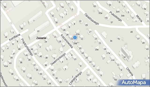 Przemyśl, Kazanowska, 24a, mapa Przemyśla