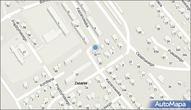 Przemyśl, Kazanowska, 32, mapa Przemyśla