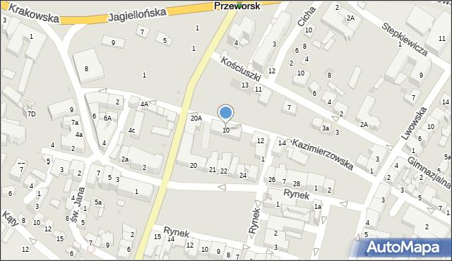 Przeworsk, Kazimierzowska, 10, mapa Przeworsk