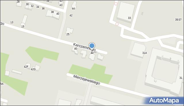 Radom, Karczemnego Marcelego, 44, mapa Radomia