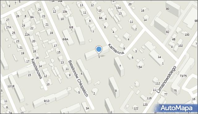 Radom, Kamienna, 1, mapa Radomia