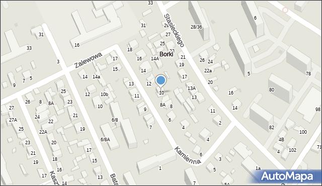Radom, Kamienna, 10, mapa Radomia