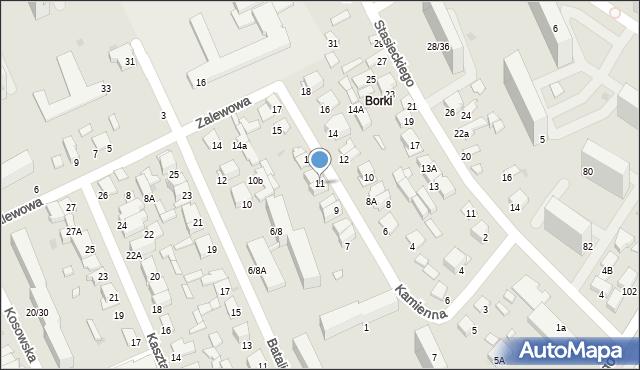 Radom, Kamienna, 11, mapa Radomia