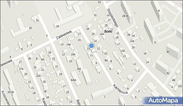 Radom, Kamienna, 11A, mapa Radomia