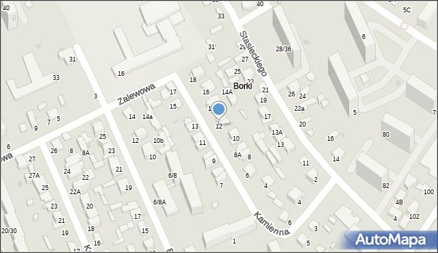 Radom, Kamienna, 12, mapa Radomia