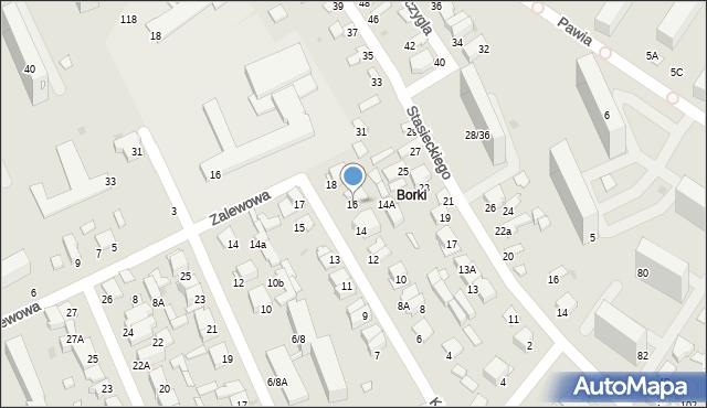 Radom, Kamienna, 16, mapa Radomia