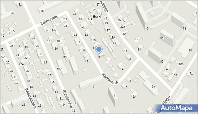 Radom, Kamienna, 6, mapa Radomia