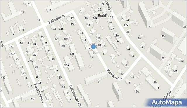Radom, Kamienna, 7A, mapa Radomia