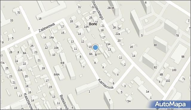 Radom, Kamienna, 8, mapa Radomia