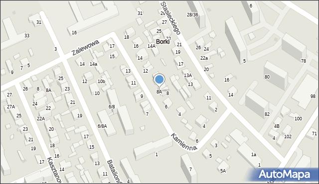 Radom, Kamienna, 8A, mapa Radomia
