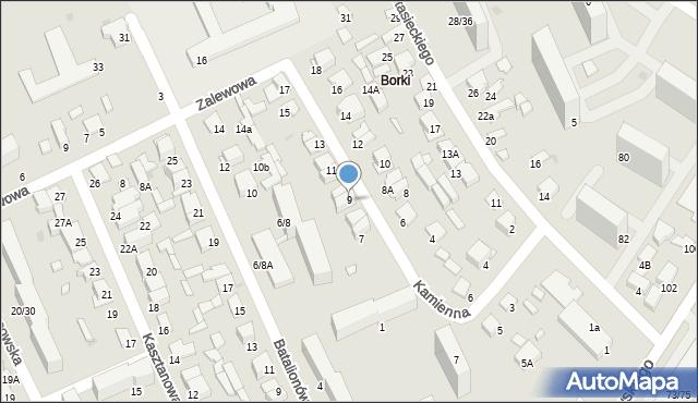 Radom, Kamienna, 9, mapa Radomia