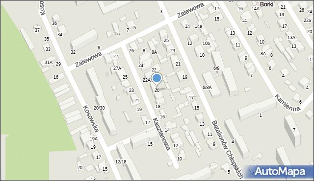 Radom, Kasztanowa, 20, mapa Radomia