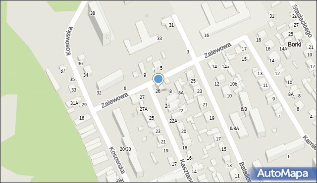 Radom, Kasztanowa, 26, mapa Radomia