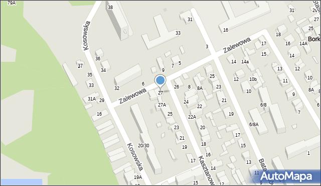 Radom, Kasztanowa, 27, mapa Radomia