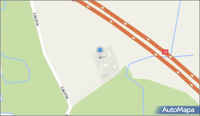 Robakowo, Kaszubska, 78, mapa Robakowo