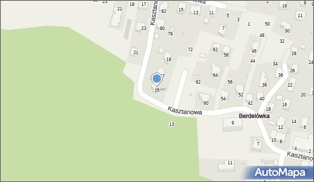 Rymanów-Zdrój, Kasztanowa, 15, mapa Rymanów-Zdrój