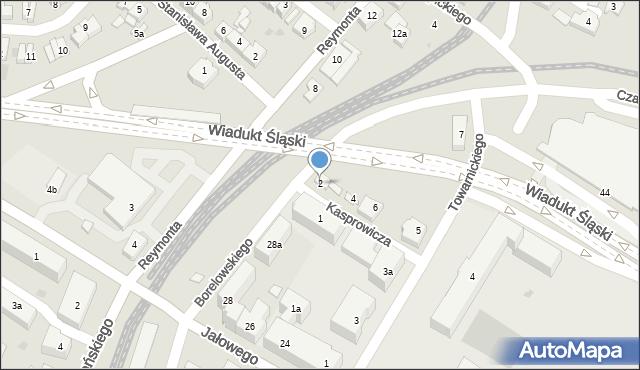 Rzeszów, Kasprowicza Jana, 2, mapa Rzeszów