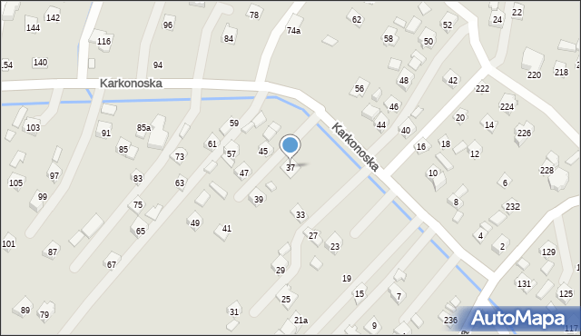 Rzeszów, Karkonoska, 37, mapa Rzeszów