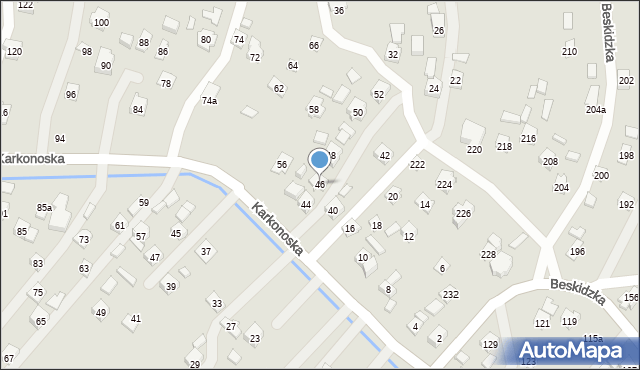 Rzeszów, Karkonoska, 46, mapa Rzeszów