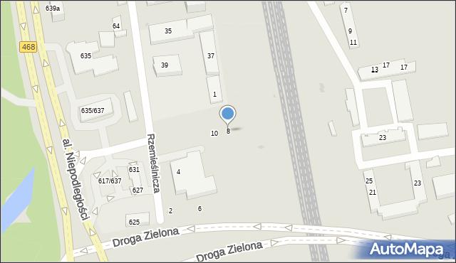 Sopot, Kasztanowa, 8, mapa Sopotu
