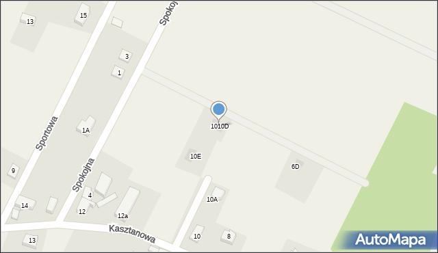 Sucha Górna, Kasztanowa, 1010D, mapa Sucha Górna