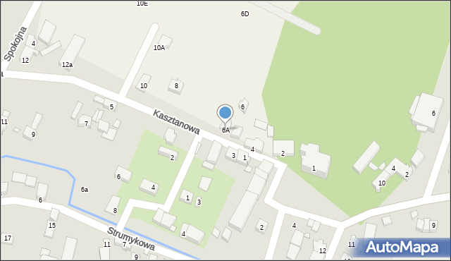 Sucha Górna, Kasztanowa, 6A, mapa Sucha Górna