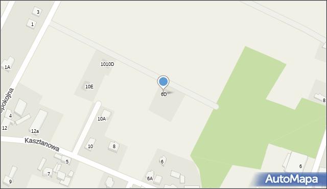 Sucha Górna, Kasztanowa, 6D, mapa Sucha Górna
