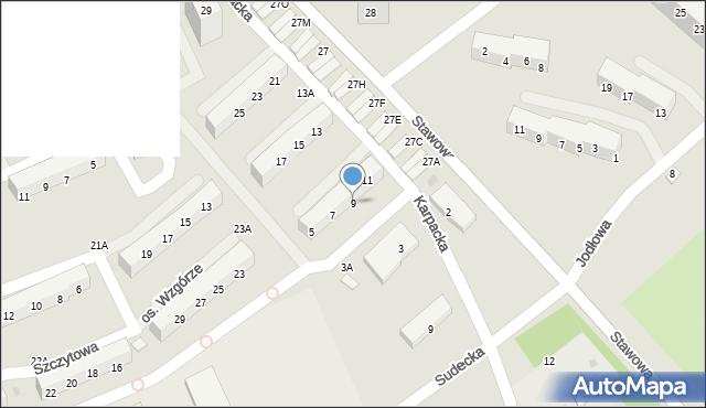 Świętochłowice, Karpacka, 9, mapa Świętochłowice