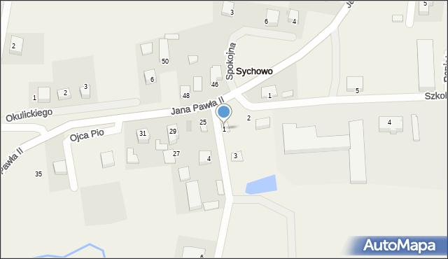 Sychowo, Kaszubska, 1, mapa Sychowo
