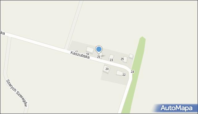 Sychowo, Kaszubska, 21, mapa Sychowo