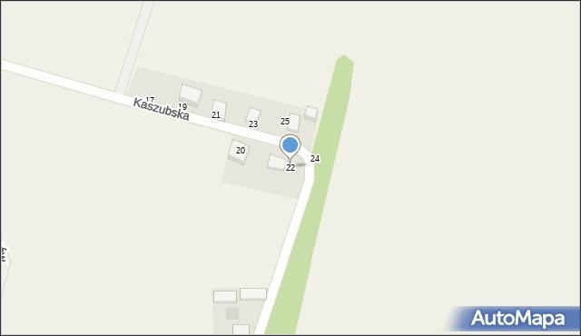 Sychowo, Kaszubska, 22, mapa Sychowo