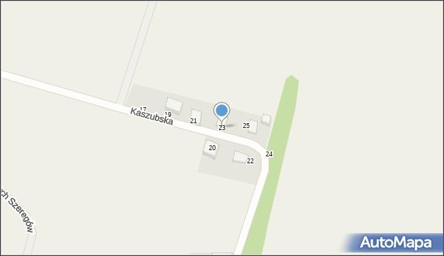 Sychowo, Kaszubska, 23, mapa Sychowo