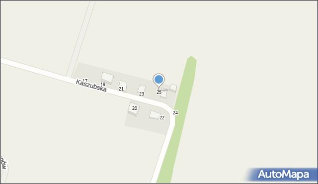 Sychowo, Kaszubska, 25, mapa Sychowo