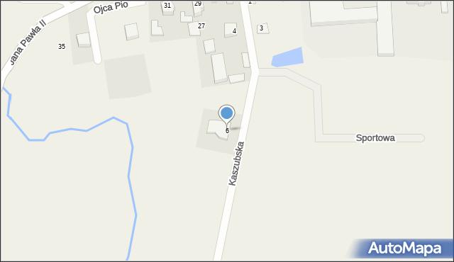Sychowo, Kaszubska, 6, mapa Sychowo