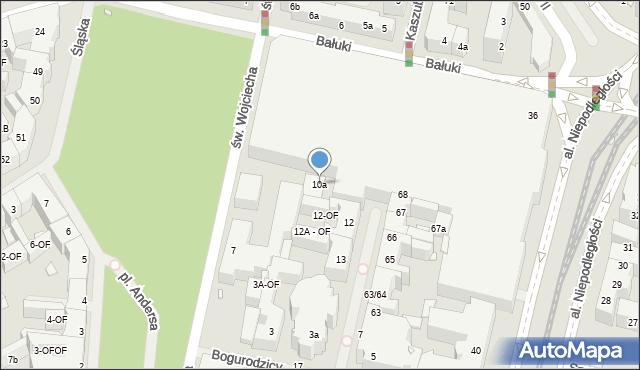 Szczecin, Kaszubska, 10a, mapa Szczecina