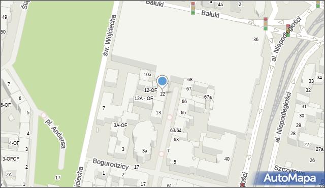 Szczecin, Kaszubska, 12, mapa Szczecina