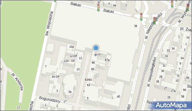 Szczecin, Kaszubska, 67, mapa Szczecina