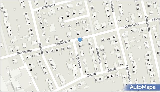 Toruń, Kąkolowa, 14, mapa Torunia