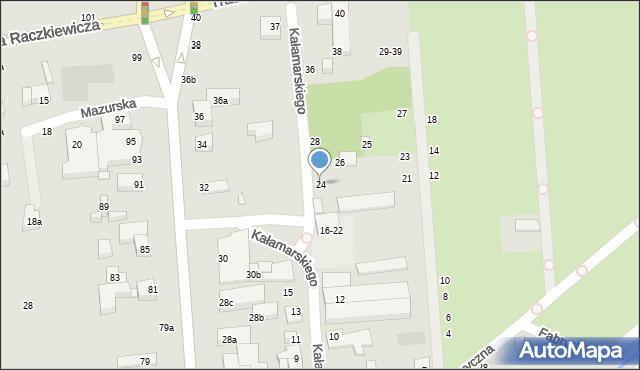 Toruń, Kałamarskiego Pawła, 24, mapa Torunia