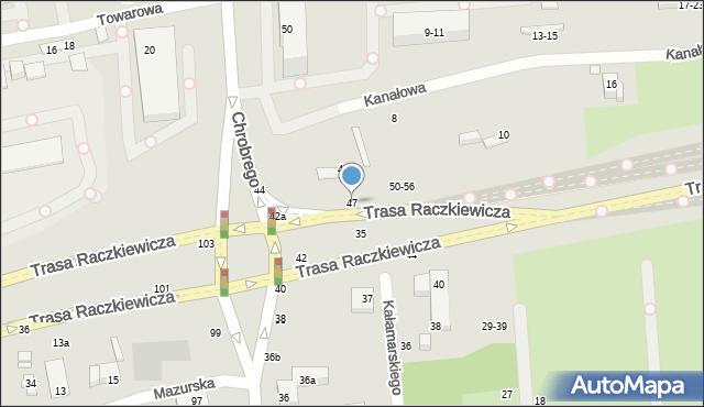 Toruń, Kałamarskiego Pawła, 47, mapa Torunia