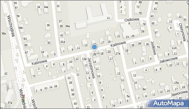 Toruń, Kalinowa, 16, mapa Torunia