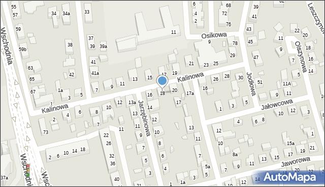 Toruń, Kalinowa, 18, mapa Torunia